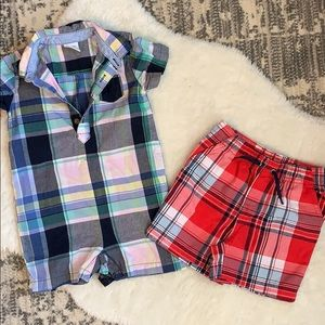 Two piece plaid Gymboree and George